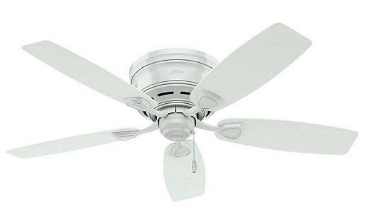 Hunter White Ceiling Fan