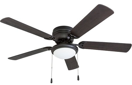 Portage Low ceiling fan for large rooms