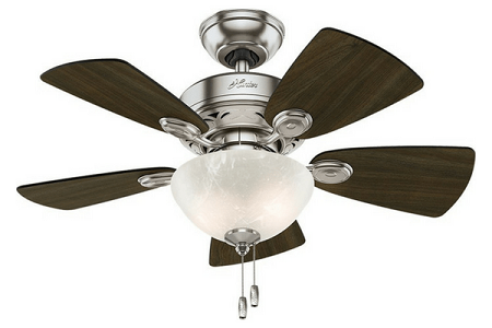 Hunter Bedroom Ceiling Fan with light