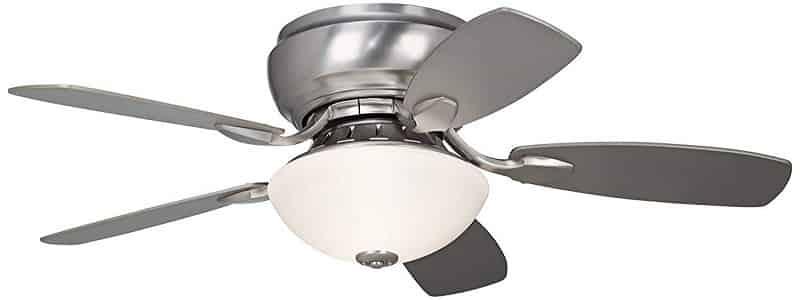 Casa Habitat Modern Hugger Ceiling Fan with Bright Light