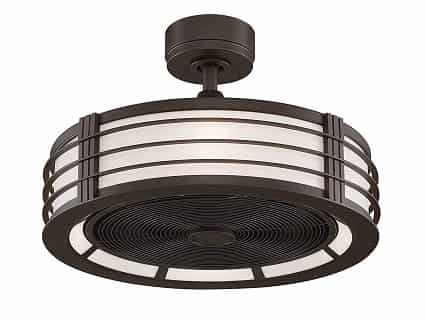 Fanimation Beckwith small caged ceiling fan with light