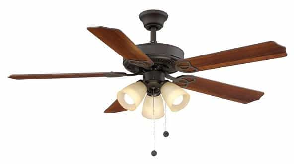 Hampton Bay Ceiling fan with Bright Lights