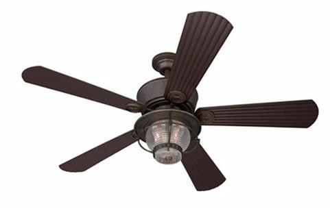 Merrimack Outdoor Ceiling Fan with Light Kit and Remote