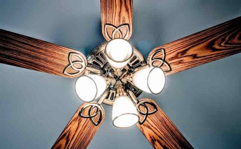 ceiling fans with bright lights