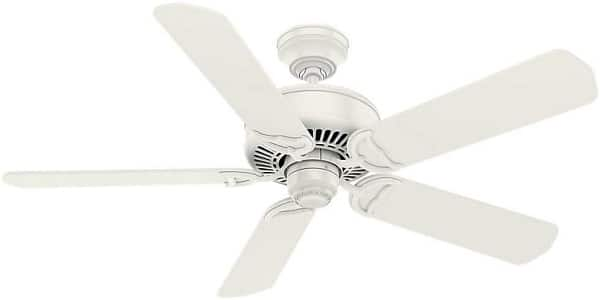 Casablanca White Flush Mount Ceiling Fan with wall control