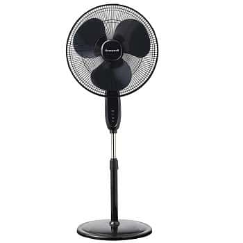Honeywell Double Blade Black Pedestal Fan With Remote Control