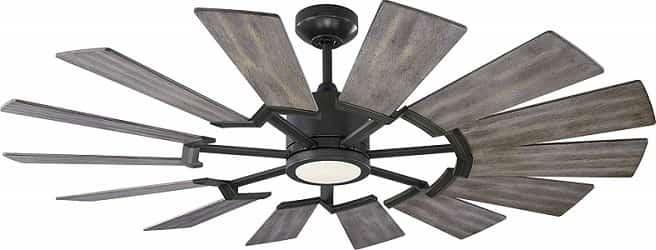 Monte Carlo 14PRR52AGPD Prairie II Windmill Ceiling Fan with Light