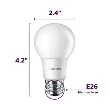 Philips A19 Frosted LED Light Bulb of 14W