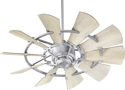 Quorum 94410-9 Galvanized 44 inch Windmill Ceiling Fan