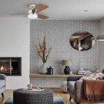Small Flush Mount Ceiling Fans with Lights