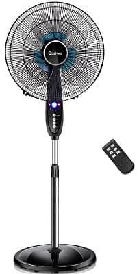 COSTWAY Adjustable Height Pedestal Fan,