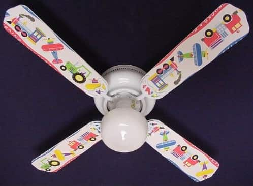 Planes Trains Trucks Design Ceiling Fan