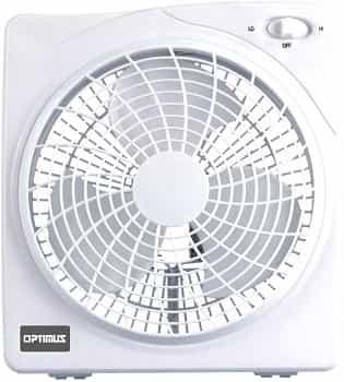 Optimus F-1022 10-Inch white Box Fan