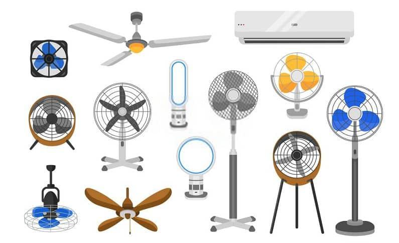 types of fan