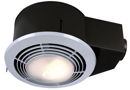 Broan Exhaust Fan with Light and Heater