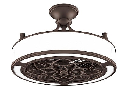 Anderson Bronze Bladeless Ceiling Fan with Light