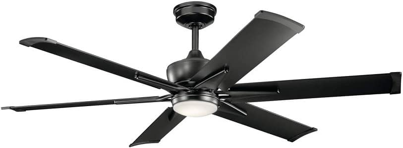 Kichler 300300SBK Szeplo Expensive Ceiling Fan with Lights