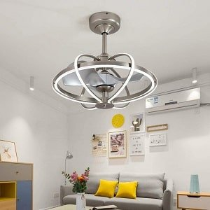 Lxlong Caged Ceiling Fan with Light and Remote