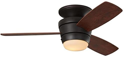 Mazon Oil-Rubbed bronze Flush Mount Ceiling Fan