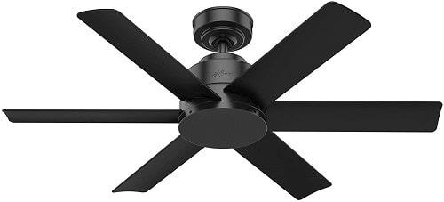 Hunter Kennicott 59613 Black Low Profile Ceiling Fan