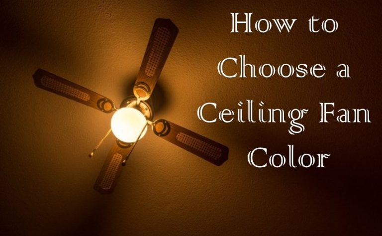 How to choose a ceiling fan color