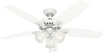 Hunter Builder Plus Indoor White Ceiling Fan
