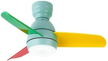 Jiji 36 Inch Nordic Multicolour Ceiling Fan