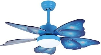 KWOKING Creative Butterfly Wing Ceiling Fan with Light