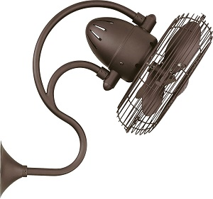 Matthews 13 Melody Bronze Outdoor Wall Fan with Wall Control