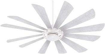 Minka Aire Windmolen Textured White Smart Ceiling Fan