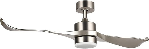 CO-Z Brushed Nickel Finish Two Blade Ceiling Fan with Lights