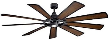 Kichler 300285DBK Gentry XL Ceiling Fan with LED Lights