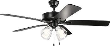 Kichler 330016SBKS Basics Pro Premier Ceiling Fan with LED Lights