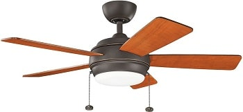 Kichler 330171OZ Starkk LED Olde Bronze Ceiling Fan with Light