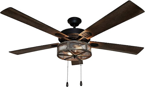 River of Goods 52 Inch Old Fashioned Ceiling Fan With Lights