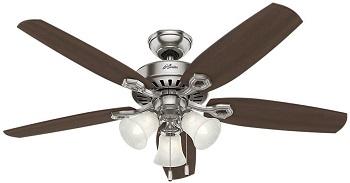 Hunter Builder Plus Indoor Ceiling Fan With LED light bulb