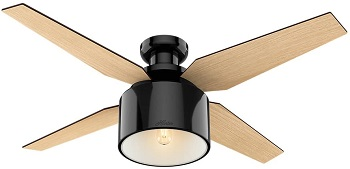Hunter Cranbook Indoor Low Profile Ceiling Fan with LED Light