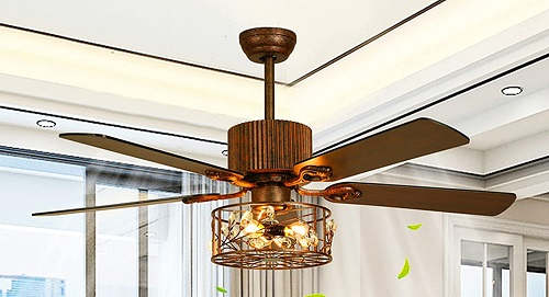 AXIQUE Modern Farmhouse Smart Ceiling fan with Remote Control