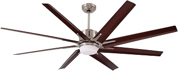 Emerson Aira Eco Modern Large Ceiling Fan With Light