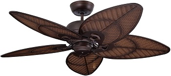 Emerson kathy ireland Venetian Bronze Tropical ceiling fan