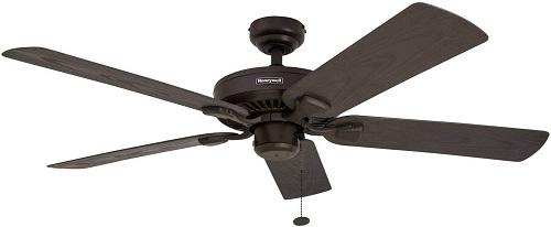 Honeywell Belmar 52-Inch Damp Rated Outdoor Ceiling Fan