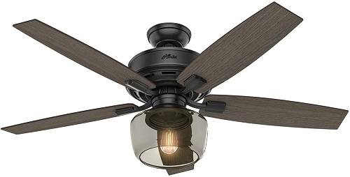 Hunter Bennett Indoor Ceiling Fan with LED Light and Remote
