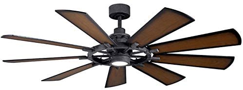 Kichler Gentry Farmhouse Style Ceiling Fan with LED Lights