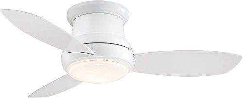 <strong>Minka-Aire Concept II LED White Flush Mount Ceiling Fan</strong>