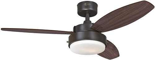 Westinghouse Lighting 7201900 Alloy Indoor Ceiling Fan with Light